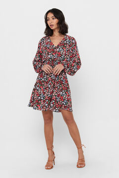 Springfield Printed gathered dress black