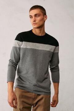 Springfield T-shirt manches longues piqué block noir