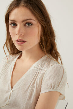 Springfield Swiss embroidery t-shirt white