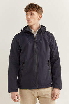 Springfield Hooded technical parka blue