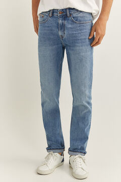 Springfield MEDIUM WASH VINTAGE SLIM JEANS blue