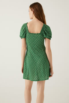 Springfield Short button dress dark green