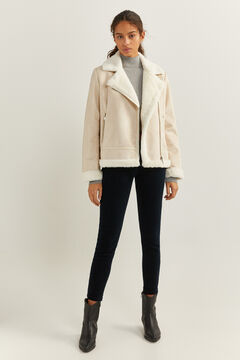 Springfield Double-faced Biker Jacket medium beige