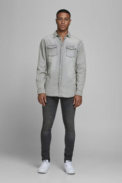 Springfield Sustainable denim shirt silber