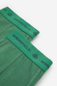 Springfield 2ER-PACK BOXERSHORTS KLASSISCH grün
