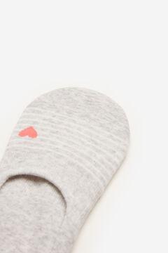 Springfield Chaussette invisible rayures cœur gris