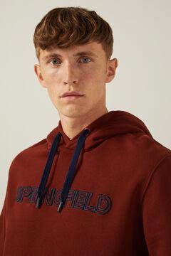 Springfield Logo hoodie bordeaux