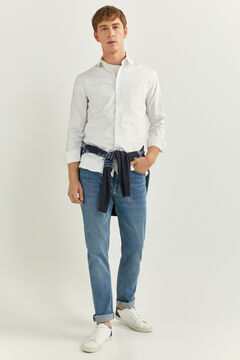 Springfield PINPOINT SLIM FIT SHIRT white