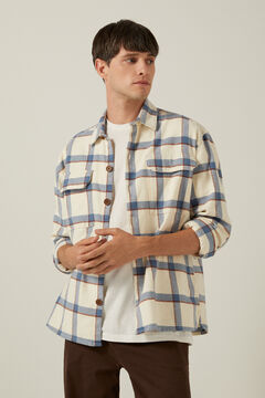 Springfield Checked overshirt brown