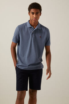 Springfield Marl polo shirt steel blue