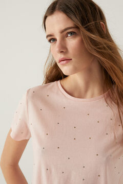 Springfield Crystal studs t-shirt pink