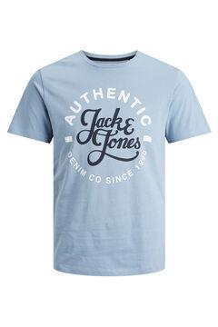 Springfield Logo text t-shirt bleuté