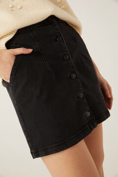Springfield Denim skirt buttons black