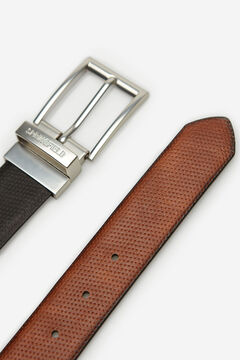 Springfield EMBOSSED FAUX LEATHER BELT black