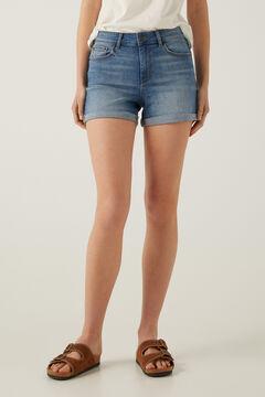 Springfield Basic denim shorts steel blue