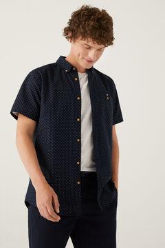 Springfield Short-sleeved printed shirt navy
