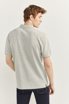 Springfield ESSENTIAL PIQUE POLO SHIRT grey