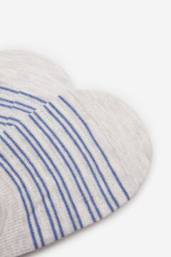 Springfield Striped No-Show Socks grey