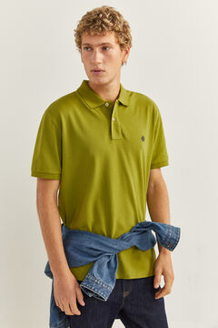 Springfield ESSENTIAL REGULAR FIT POLO SHIRT oil