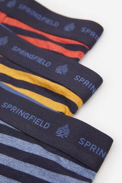 Springfield 3ER-PACK BOXERSHORTS GESTREIFT blau