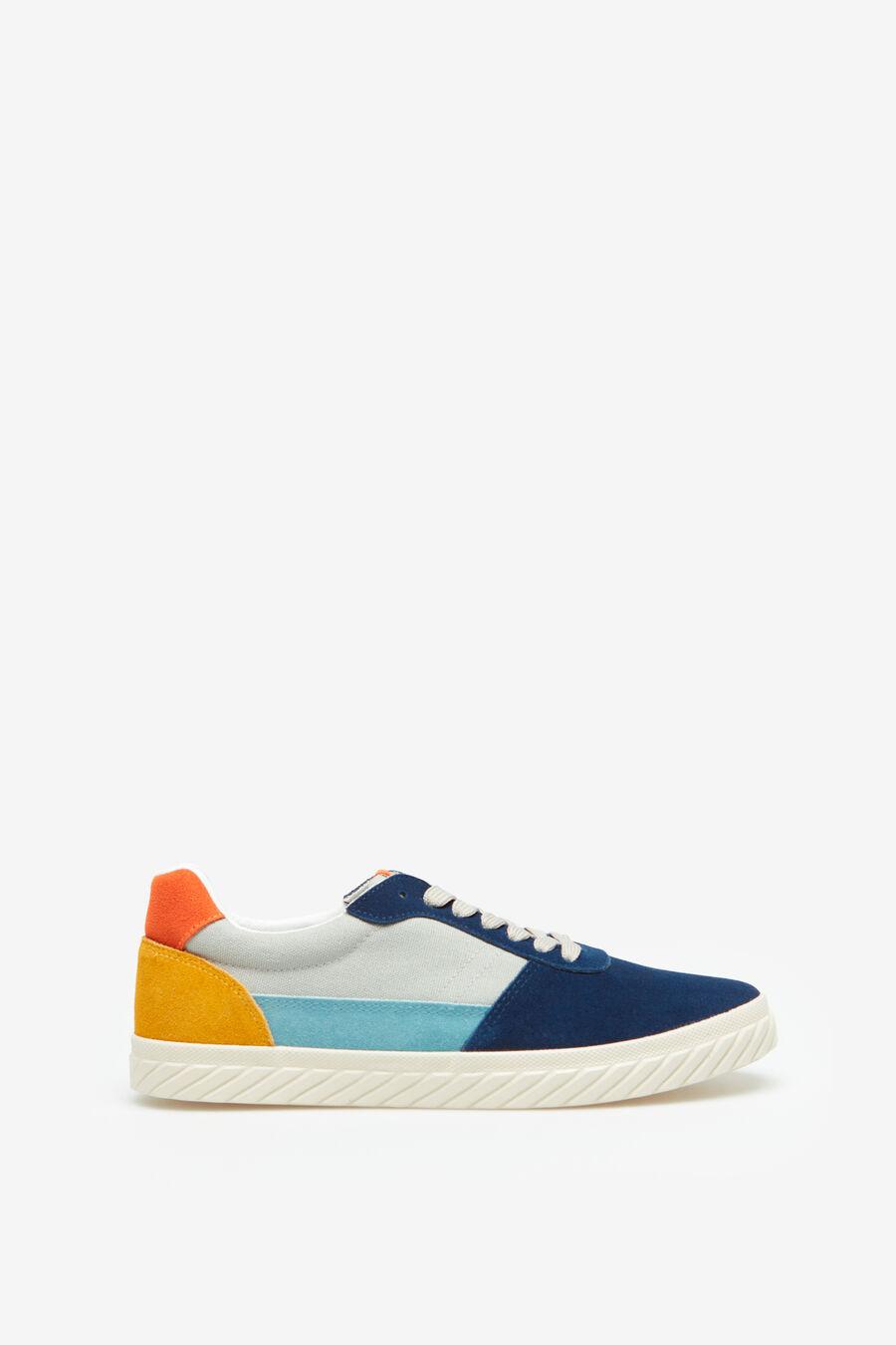 Artikel klicken und genauer betrachten! - Schnür-sneaker aus canvas und rauleder in verschiedenen farben. Sneaker aus rauleder und stoff springfield   im Online Shop kaufen