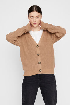Springfield V-neck cardigan brown