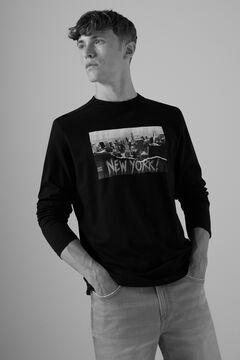 Springfield Long-sleeved urban T-shirt black