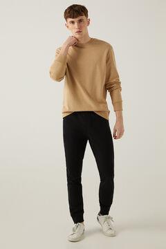 Springfield Sweat-shirt ras de cou basique camel