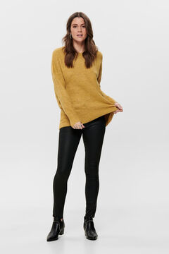 Springfield Long-sleeved wide fit jumper banana