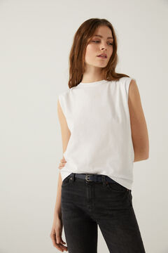Springfield Shoulder pads t-shirt white