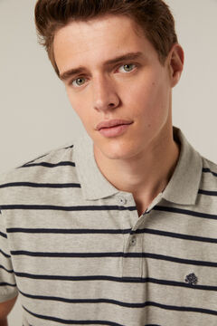 Springfield Striped polo shirt gray
