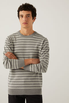 Springfield Striped jumper gray
