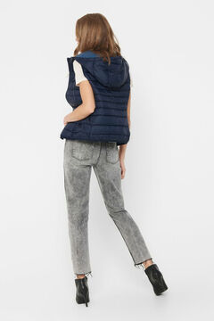 Springfield Quilted hooded gilet bluish