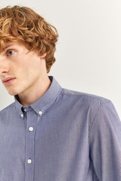 Springfield Striped slim fit shirt bluish