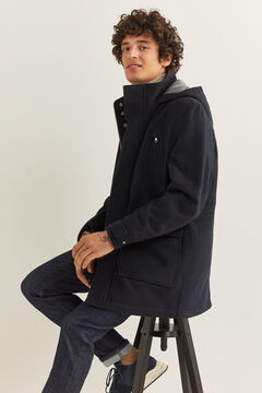 Springfield WOOL BLEND COAT WITH RECYCLED DUPONT™ SORONA® padding navy