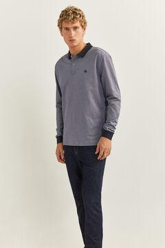 Springfield Camiseta manga larga textura azulado