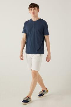 Springfield Comfort stretch Bermuda shorts white