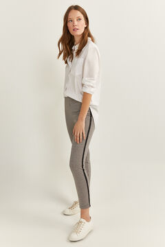 Springfield Textured Side Stripe Leggings brown