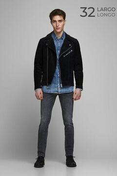 Springfield Slim fit tapered jeans black