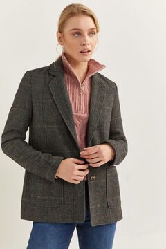 Springfield Checked Blazer grey