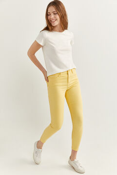 Springfield Jeans Slim Cropped moutarde