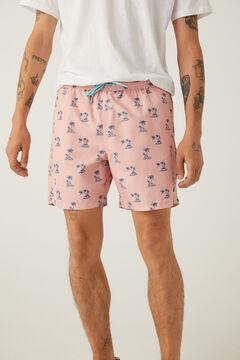 Springfield Palm print swimming shorts lavender