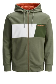 Springfield Zipped sweatshirt green