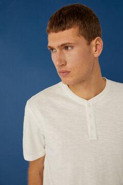 Springfield Henley-neck t-shirt ecru