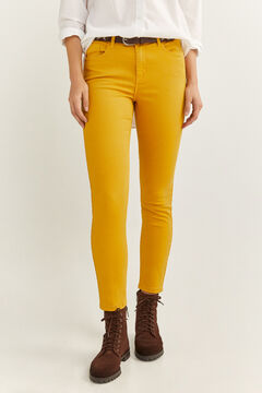 Springfield Eco Dye coloured jeans yellow