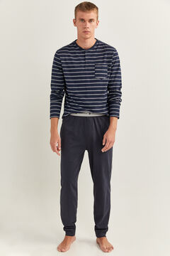 Springfield CONTRAST AND DECORATIVE TAPING PYJAMAS blue