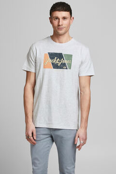 Springfield Logo print t-shirt weiß