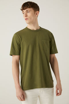 Springfield Boxy t-shirt with pocket grey