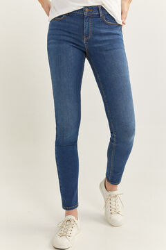 Springfield Jeans slim coton recyclé lavage durable bleu acier