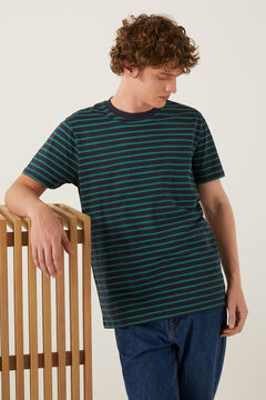 Springfield Camiseta rayas verde bosque